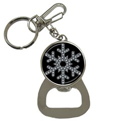 Snowflake Abstract Pattern Shape Bottle Opener Key Chains