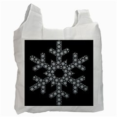 Snowflake Abstract Pattern Shape Recycle Bag (one Side)