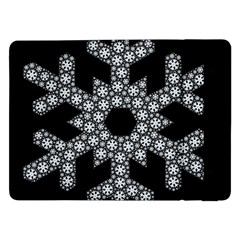 Snowflake Abstract Pattern Shape Samsung Galaxy Tab Pro 12 2  Flip Case