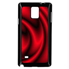 Background Red Color Swirl Samsung Galaxy Note 4 Case (black)