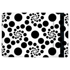 Dot Dots Round Black And White Ipad Air 2 Flip