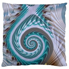 Spiral Fractal Swirl Whirlpool Large Flano Cushion Case (one Side)