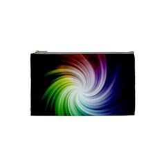 Rainbow Swirl Twirl Cosmetic Bag (small)