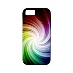 Rainbow Swirl Twirl Apple Iphone 5 Classic Hardshell Case (pc+silicone)