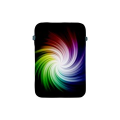 Rainbow Swirl Twirl Apple Ipad Mini Protective Soft Cases by Pakrebo