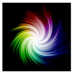 Rainbow Swirl Twirl Large Satin Scarf (square)
