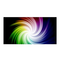 Rainbow Swirl Twirl Satin Wrap by Pakrebo