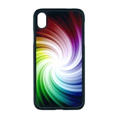 Rainbow Swirl Twirl Apple Iphone Xr Seamless Case (black)