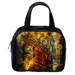 Flat Iron Building Architecture Classic Handbag (one Side)
