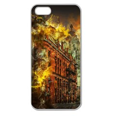 Flat Iron Building Architecture Apple Seamless Iphone 5 Case (clear)