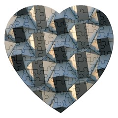 Pattern Texture Form Background Jigsaw Puzzle (heart)