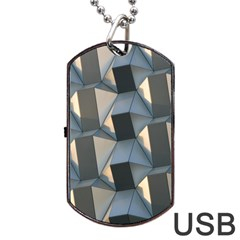 Pattern Texture Form Background Dog Tag Usb Flash (one Side)