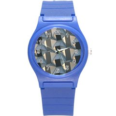 Pattern Texture Form Background Round Plastic Sport Watch (s) by Pakrebo