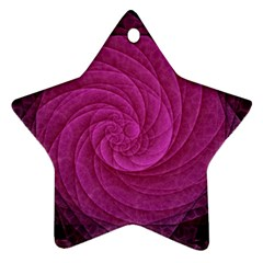 Background Scrapbooking Abstract Star Ornament (two Sides)