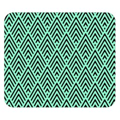 Chevron Pattern Black Mint Green Double Sided Flano Blanket (small)