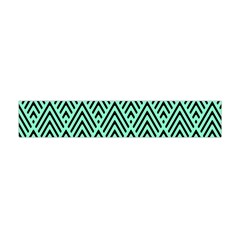 Chevron Pattern Black Mint Green Flano Scarf (mini)