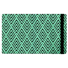 Chevron Pattern Black Mint Green Ipad Mini 4 by Pakrebo