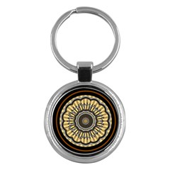 Mandala Pattern Round Ethnic Key Chains (round)
