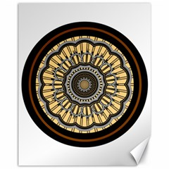 Mandala Pattern Round Ethnic Canvas 11  X 14