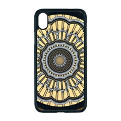 Mandala Pattern Round Ethnic Apple Iphone Xr Seamless Case (black)