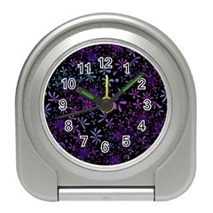 Retro Flower Pattern Design Batik Travel Alarm Clock