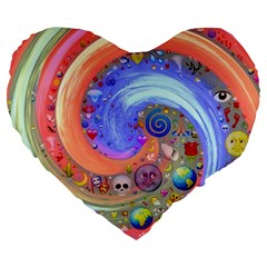 Swirl Vortex Emoji Cyclone Motion Large 19  Premium Heart Shape Cushions