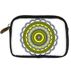 Mandala Pattern Round Ethnic Digital Camera Leather Case