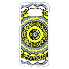 Mandala Pattern Round Ethnic Samsung Galaxy S8 Plus White Seamless Case by Pakrebo