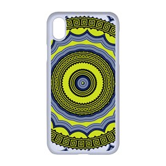 Mandala Pattern Round Ethnic Apple Iphone Xr Seamless Case (white)
