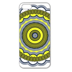Mandala Pattern Round Ethnic Apple Seamless Iphone 5 Case (clear)