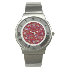 Love Hearts Valentines Connection Stainless Steel Watch