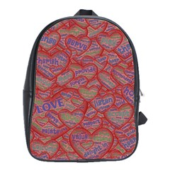 Love Hearts Valentines Connection School Bag (large)