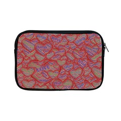 Love Hearts Valentines Connection Apple Ipad Mini Zipper Cases
