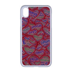 Love Hearts Valentines Connection Apple Iphone Xr Seamless Case (white)