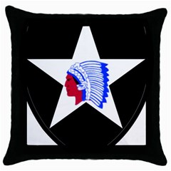 United States Army 2nd Infantry Division Shoulder Sleeve Insignia Throw Pillow Case (black)