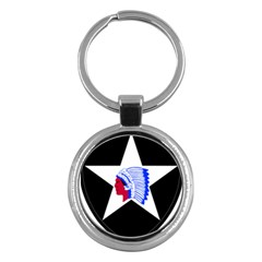 United States Army 2nd Infantry Division Shoulder Sleeve Insignia Key Chains (round)  by abbeyz71