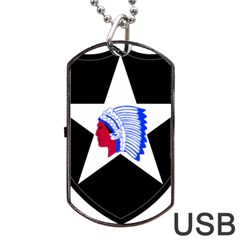 United States Army 2nd Infantry Division Shoulder Sleeve Insignia Dog Tag Usb Flash (one Side) by abbeyz71