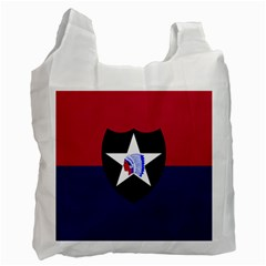 Flag Of United States Army 2nd Infantry Division Recycle Bag (one Side)