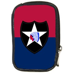 Flag Of United States Army 2nd Infantry Division Compact Camera Leather Case by abbeyz71