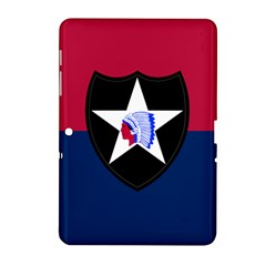 Flag Of United States Army 2nd Infantry Division Samsung Galaxy Tab 2 (10 1 ) P5100 Hardshell Case  by abbeyz71
