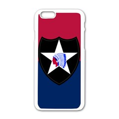 Flag Of United States Army 2nd Infantry Division Apple Iphone 6/6s White Enamel Case