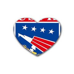 Logo Of United States Forces Korea Heart Coaster (4 Pack)