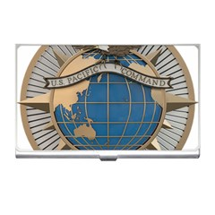 Emblem Of United States Pacific Command Business Card Holder