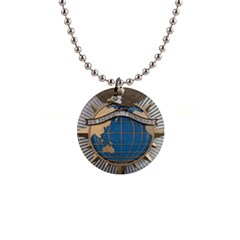 Emblem Of United States Pacific Command 1  Button Necklace