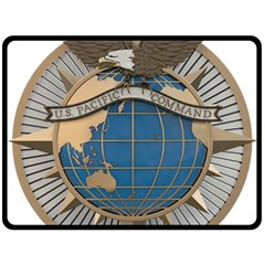 Emblem Of United States Pacific Command Double Sided Fleece Blanket (large)