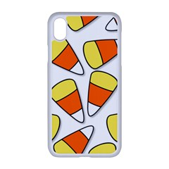 Candy Corn Halloween Candy Candies Apple Iphone Xr Seamless Case (white)