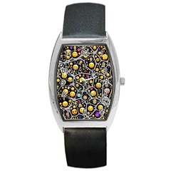 Mental Emojis Emoticons Icons Barrel Style Metal Watch