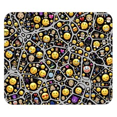 Mental Emojis Emoticons Icons Double Sided Flano Blanket (small)