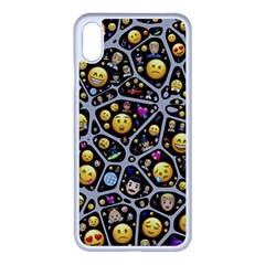Mental Emojis Emoticons Icons Apple Iphone Xs Max Seamless Case (white)