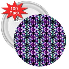 Geometric Patterns Triangle 3  Buttons (100 Pack)